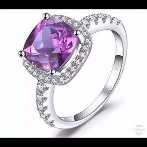 Alexandrite Sapphire & Silver Ring 10001500
